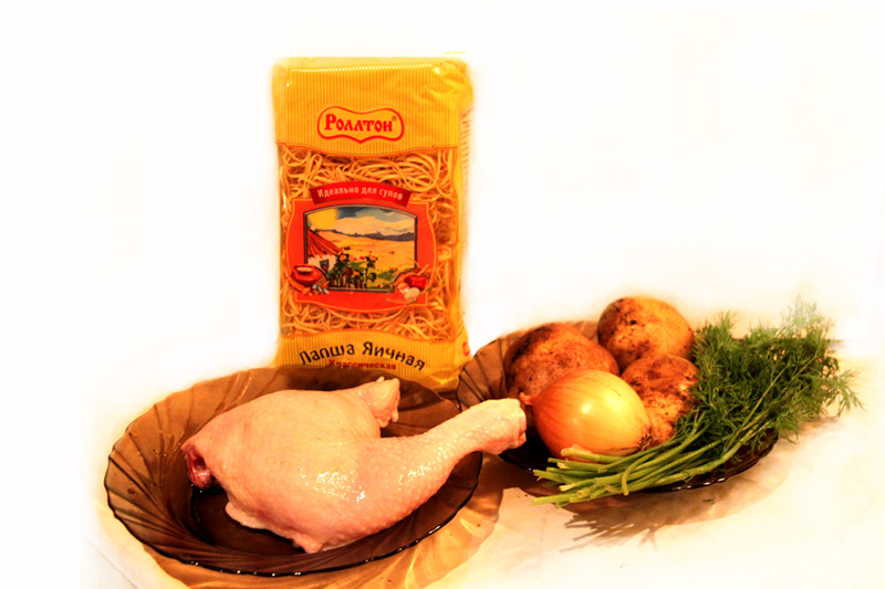 рецепт суп с яичной лапшой и курицей рецепт