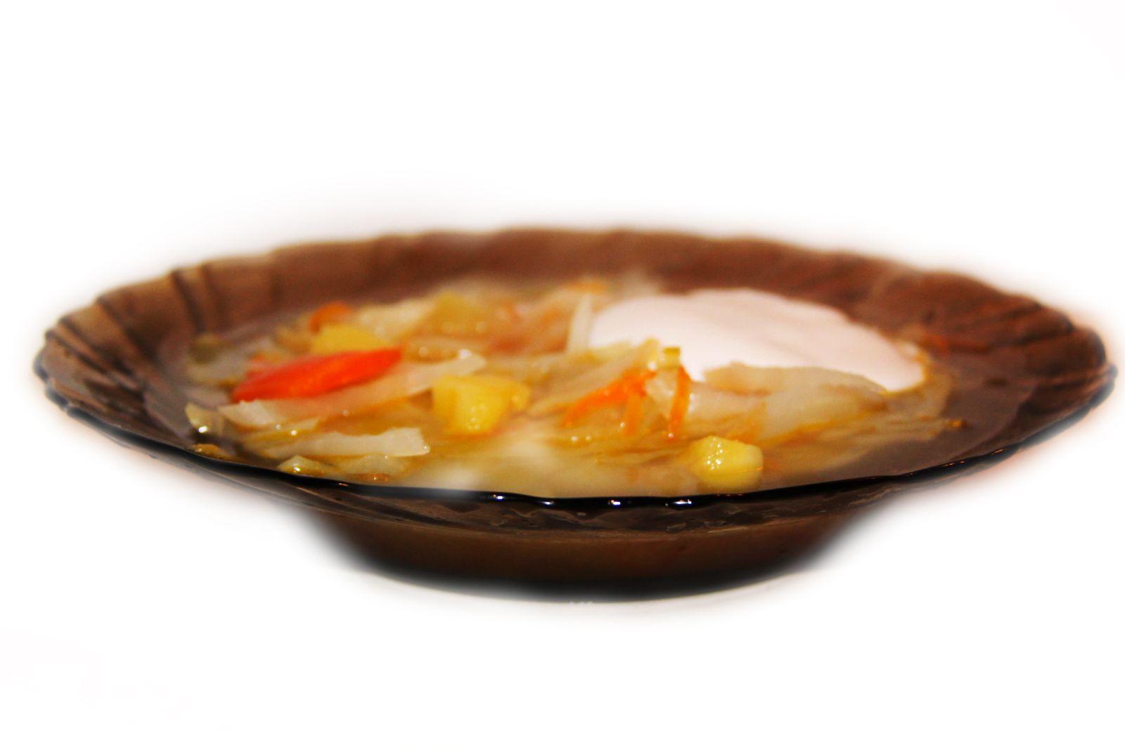 вкусный фото рецепт постных щей из капусты без мяса
