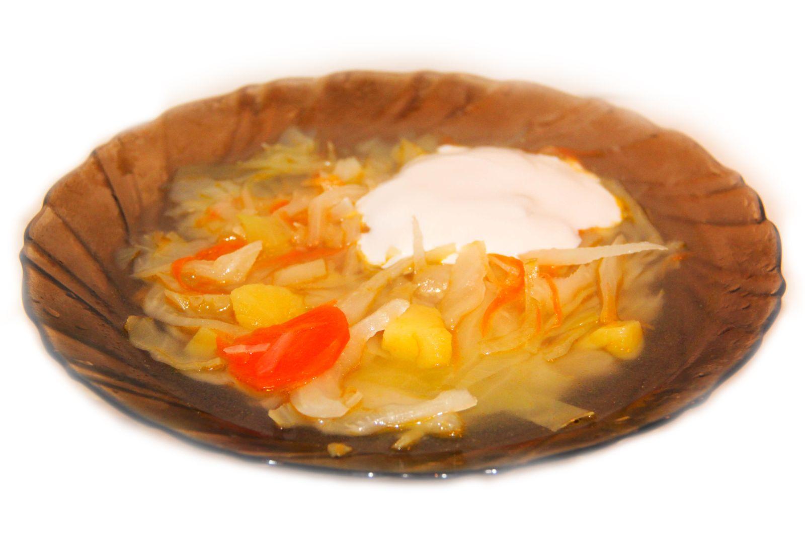вкусный фото рецепт щей из свежей капусты без мяса