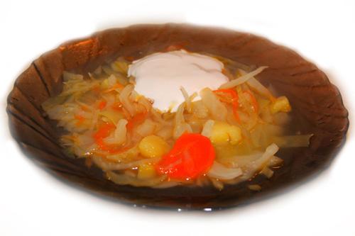 постные вегетарианские щи из свежей капусты - рецепт с фото